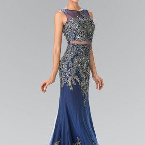 Mock Two-Piece Long Prom  Dress GL2338